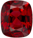 Loose Red Spinel Stone in Cushion Cut, Rich Pure Red Color in 8.1 x 6.7 mm, 2.15 Carats