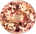 Padparadscha Sapphire No Treatment Sapphire Gemstone in Round Cut, 5.67 x 5.33 x 3.53 mm, 0.86 carats - SOLD