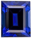 Royal Blue Kanchan Sapphire Gem - Super Bright, Baguette Cut, 5.9 x 4.8 mm, 0.99 carats