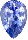 Nice Medium Light Cornflower Blue Sapphire - Well Cut, Nice Looking Stone, Pear Cut, 1.96 carats