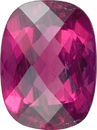 No Treatment Rose Cut Cushion Vivid Deep Reddish Pink Rubellite Tourmaline, 13.9 x 11.1mm, 7.2 carats