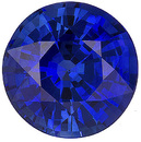 Great Price for Brilliant Color, Cut and Clarity Grade 6.30mm Genuine Blue Sapphire Gem, Round Cut, 1.29 carats