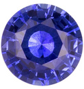 Medium Blue Color Lively Sapphire Stone for SALE, 5.50mm Round Cut, 0.71 carats
