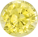 No Treatment Pure Yellow Sapphire Gem in Round Cut, GIA Cert, 6.47 x 6.56 x 3.42 mm, 1.31 carats - SOLD
