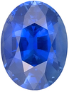 Finest Extraordinary Unheated Blue Sapphire Genuine Gemstone, AGTA Cert, Oval Cut, 3.72 carats - SOLD