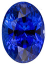 Exceptional Fine Unheated Intense Rich Blue Ceylon Sapphire - with AGTA Certificate, Oval Cut, 3.26  carats