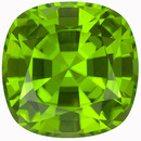 Exquisite Pakistani Rich Green GEM Peridot  for SALE! Cushion Cut, 5.69 carats