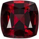 Highly Desired Rhodolite Loose Gem in Cushion Cut, Vivid Rich Red, 9.3 mm, 4.51 carats