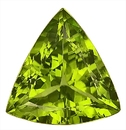 A Very Fine Gem! Blinding Peridot Natural Gem from Pakistan, Trillion Cut, 13.33 carats - SOLD
