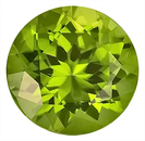 Faceted, Nicely Sized Impressive Peridot Genuine Gem, Round Cut, 13.3 x 13.2 mm, 9.30 carats