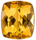 Gorgeous, Popular Shape, Lively Unheated Brazilian Topaz Genuine Gemstone, Cushion Cut, 4.94 carats