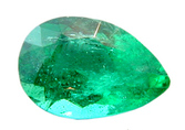 Beautiful Bright Clean Pear Shaped Emerald Gemstone 0.78 carats