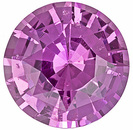 Attractive Pure Pink Ceylon Pink Sapphire - Bright & Lively, Round Cut, 6.6 x 6.6 mm, 1.25 carats