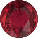 Best Loose Ruby Gem in Round Cut, Vibrant  Red Color, 5.66 mm, 1.02 carats