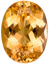 Brilliant Golden Peach Topaz Unheated Brazilian Gem for SALE, Oval Cut, 3.93 carats