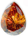 Fancy Orangy Brownish Yellow 0.63 carats