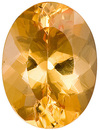 Fantastic Unheated Brazilian Golden Topaz Natural Gemstone, Oval Cut, 3.51 carats