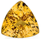 Great Find! Hard to Find Shape, Magnificent Golden Color Topaz Genuine Gem, Trillion Cut, 3.24 carats