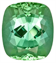 Lovely Mint Green Tourmaline Natural Gemstone for SALE - Eye Clean Plus Clarity, antique cushion Cut, 10.5 x 9.3 mm, 4.45 carats