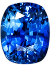 Nice Rich Blue Sapphire Gemstone, Very Clean, antique cushion Cut, 3.59 carats
