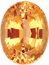 No Treatment Rich & Vibrant Oval Peachy Orange Precious Topaz, 10.7 x 8.3mm, 3.97 carats