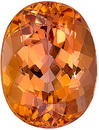 Optimal Color in Perfect Unheated Imperial Topaz from Brazil, for SALE! Oval Cut, 3.61 carats