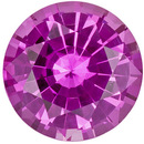 Perfection in Vivid Pink Unheated Sapphire with Great Price! Round Cut, 6.2 x 6.2 mm, 1.01 carats