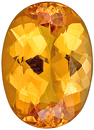 Pretty Shape and Outline! Unheated Golden Peach Topaz Gem from Brazil, Oval Cut, 6.64 carats