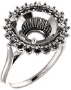 Regal Halo Style Engagment Ring for Round Shape Centergem Sized 5.20 mm to 15.00 mm - Customize Metal, Accents or Gem Type