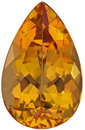 Rich Color Fiery Precious Topaz Fabulous Unheated Brazilian Stone, Pear Cut, 10.8 x 6.7 mm, 2.7 carats