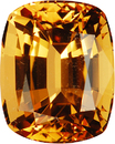 Striking Elongated Genuine Rich Color in Genuine Brazil Imperial Topaz, 10 x 8mm, 4.33 carats