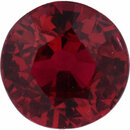 Top Quality Round Cut Loose Ruby Gem, Vibrant Red Color, 5.51 mm, 0.93 carats