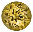 Unique and Lustrous Yellow and Brown Grossular Garnet Natural Gemstone, Round Cut, 9.1 x 9 mm, 3.30 carats