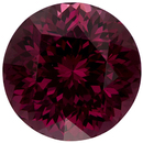 Very Eye Catching Rhodolite Loose Gem in Round Cut, Rich Raspberry Red, 9.0 mm, 3.89 carats
