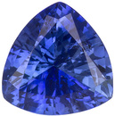 Well Cut Bright Rich Blue Ceylon Blue Sapphire - Very Lively, Trillion Cut, 0.7 carats