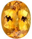Well Cut, Bright Golden Peach Unheated Topaz Gemstone for SALE, Oval Cut, 5.87 carats