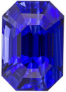 Ultra Fine Blue Sapphire Gem in Stunning Emerald Cut in Fine Rich Blue Color in 7.8 x 5.4 mm, 2.09 carats