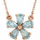 14KT Rose Gold Sky Blue Topaz 16