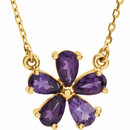 14KT Yellow Gold Amethyst 16