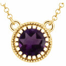 14KT Yellow Gold Amethyst