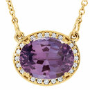 14KT Yellow Gold Amethyst & .05 Carat Total Weight Diamond 16.5