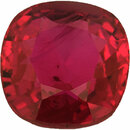 Attractive Antique Square Cut Loose Ruby Gem, Deep  Red Color, 6 x 5.91 mm, 1.35 carats