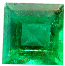 Beautiful Square Cut Emerald Gemstone  0.58 carats