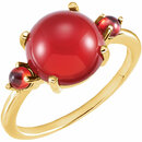 Carnelian & Mozambique Garnet Accented Ring