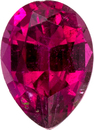 Fuschia Red Rubelite Tourmaline Loose Gem in Pear Cut, Rich Fuchsia Red, 7 x 5 mm, 0.77 carats