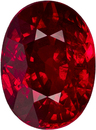Great Buy in Loose Ruby Oval Cut, Vivid Intense Pure Red Color, 8.1 x 6.0 mm, 2.12 carats