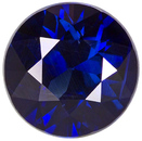 Great Value Sapphire Loose Gem in Round Cut, Intense Deep  Blue Color in 6.8 mm, 1.41 carats
