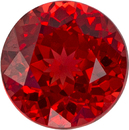 Hot Color in Spinel Loose Gem in Round Cut, Orangey Red, 4.7 mm, 0.57 carats