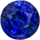 Loose Faceted Blue Sapphire Stone in Round Cut, Rich Blue Color in 5.8 mm, 1.05 carats