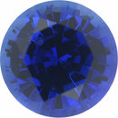 Low Price on Loose Blue Sapphire Gem in Round Cut, Deep Slight Violet Hint, Rich Blue, 6.06 mm, 1.1 carats